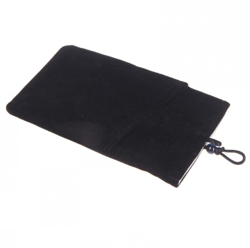 ソフトの保護布スリーブ バッグ ポーチ 7」* 4「サムスン Galaxy S5 S4 注 3 2 の二重層等のブラック