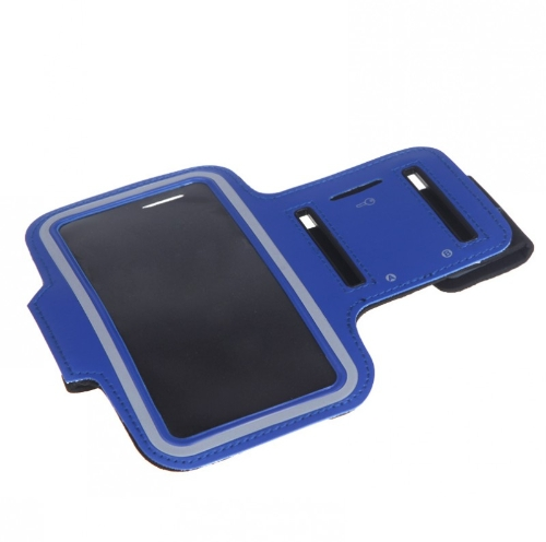 Sport Jogging Arm Band Strap Gym Running Strap  Pouch Holder Case Cover for Samsung Galaxy S5 i9600 Royal Blue