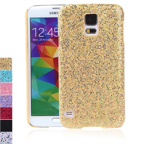 PC Hard Mobile Phone Glitter Back Case Shiny Bling Shell for Samsung Galaxy S5 i9600 Golden