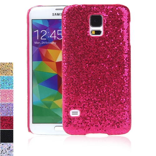 PC Hard Mobile Phone Glitter Back Case Shiny Bling Shell for Samsung Galaxy S5 i9600 Rose