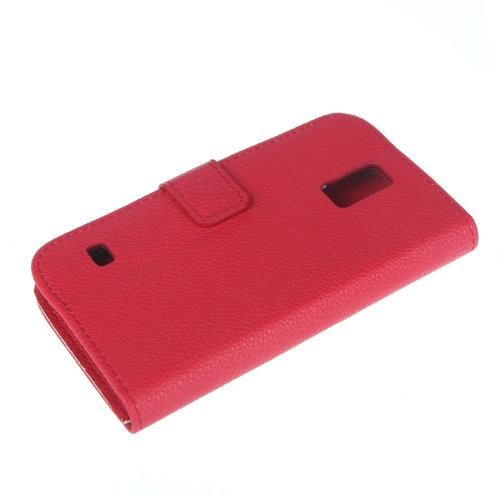 Fashion Wallet Case Flip Leather Stand Cover with Card Holder for Samsung Galaxy S5 i9600 Red