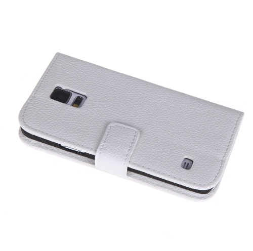 Fashion Wallet Case Flip Leather Stand Cover with Card Holder for Samsung Galaxy S5 i9600 White