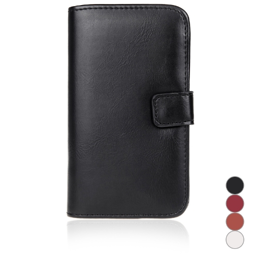 Fashion Wallet Case Flip Leather Stand Cover with Card Holder for Samsung Galaxy S5 i9600 Black