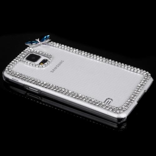 PC Hard Back Case Protective Shell Bling Diamond Rhinestone Crystal for Samsung Galaxy S5 i9600 Dragonfly