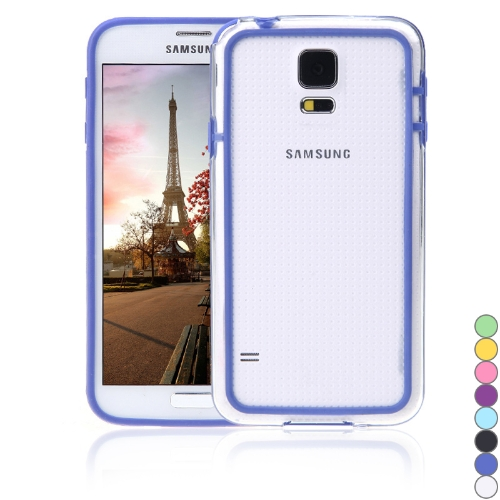 Colorful TPU+PC Bumper Frame Case Cover for Samsung Galaxy S5 i9600 Royal Blue