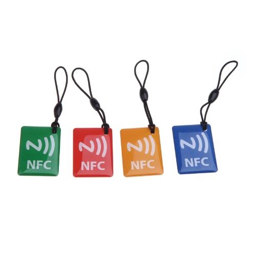 4 本入りスマート NFC タグ三星ギャラクシー S5 S4 メモ III ノキア Lumia 920 ソニー Xperia ネクサス 5 ネクサス 4