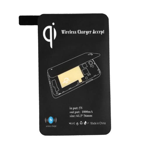 Certificated Ultra-thin Qi Wireless Charging Receiver Inductive Coil for Samsung Galaxy S5 i9600 Black