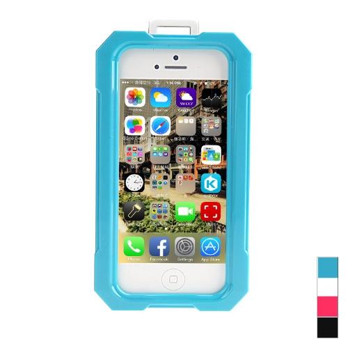Ipega impermeável à prova de choque Snowfroof imaculável caixa do silicone protetora para iPhone 5/5S com alça azul