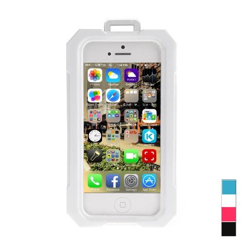 Ipega impermeável à prova de choque Snowfroof imaculável caixa do silicone protetora para iPhone 5/5S com alça branca