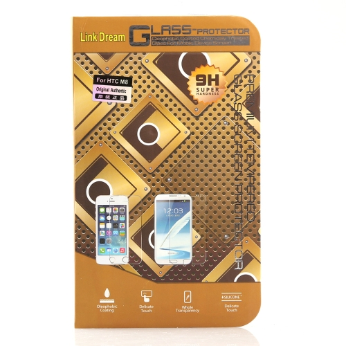 Ecran 0,3 mm 2.5D 9H verre trempé Protector Film de Protection Guard Anti-briser pour HTC One M8