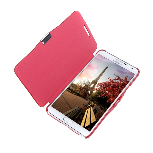 flip leather bling flower case cover pu leather for samsung galaxy note 3 iii n9000 red