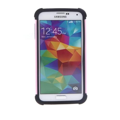 Dupla camada híbrida difícil caso capa para Samsung Galaxy S5 I9600 protetora de Silicone resistente à prova de choque