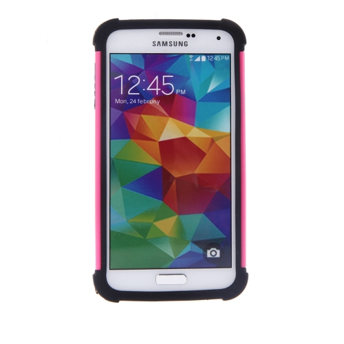 Double couche hybride Housse Etui pour Samsung Galaxy S5 I9600 Silicone robuste protection antichoc