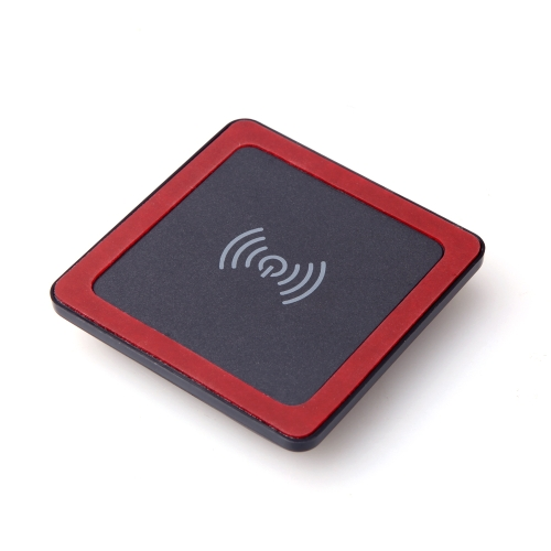 Mini Qi Wireless Charger Transmitter Pad with Silicone Mat for iPhone 6 6S 6 Plus 6S Plus Samsung Galaxy Note4 Note5 Note edge S6 S6 edge S6 edge Plus LG G4 Xiaomi Note Pro Huawei Mate 7 P7 P8 Smartphone Ultrathin Slim Black+Red
