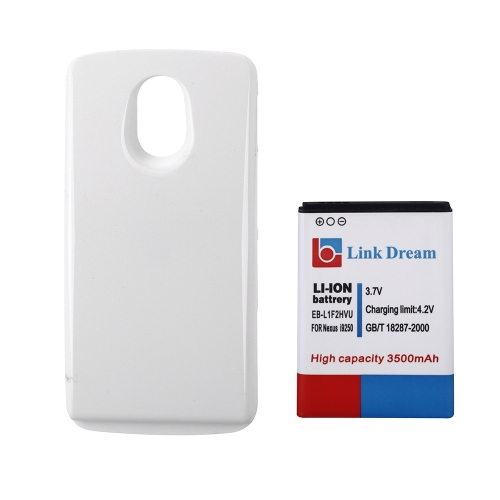3500mAh recarregável Li-ion bateria alta capacidade substituição + branco tampa traseira para Samsung Galaxy EB-L1F2HVU Nexus I9250 Nexus Prime
