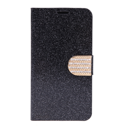 Magnético carteira caso Flip Stand tampa de couro com suporte de cartão para Samsung Galaxy S5 i9600 preto