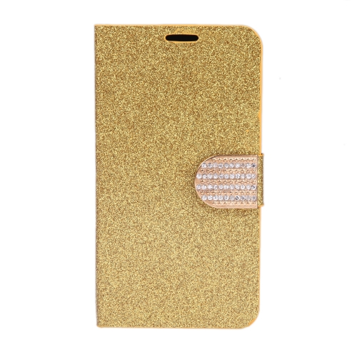 Magnético carteira caso Flip Stand tampa de couro com suporte de cartão para Samsung Galaxy S5 i9600 dourado