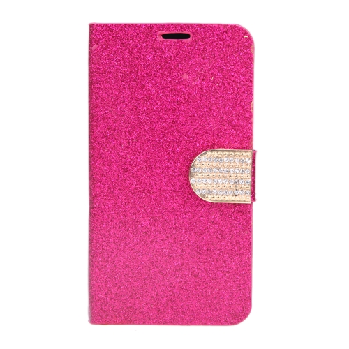 Magnetic Wallet Case Flip Leather Stand Cover with Card Holder for Samsung Galaxy S5 i9600 Rose