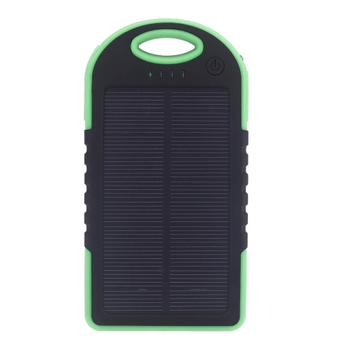 5000mAh Solar Charger Mobile Power Bank 2 USB Port External Charger Universal for iPhone iPad Samsung  Smartphones GPS Camera