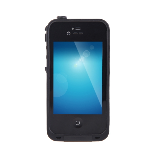 Waterproof Shockproof Dirt Proof Durable Case Cover for Apple iPhone 4 4S Black