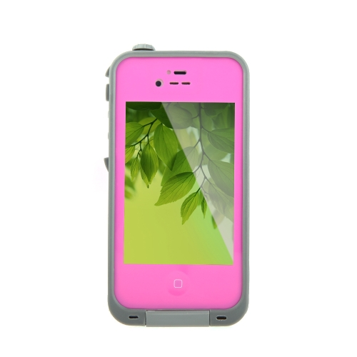 Waterproof Shockproof Dirt Proof Durable Case Cover for Apple iPhone 4 4S Rose Red