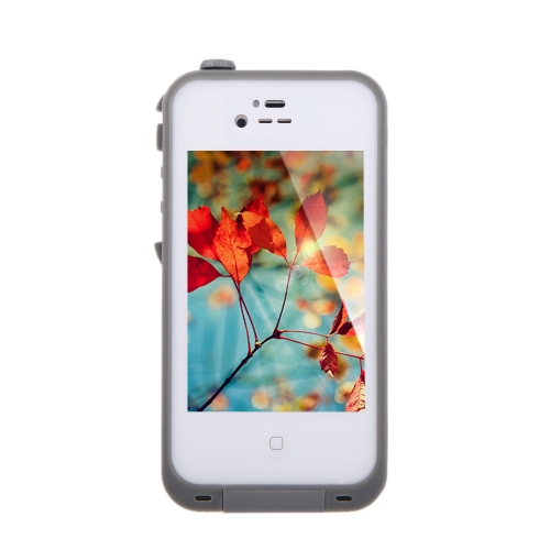Waterproof Shockproof Dirt Proof Durable Case Cover for Apple iPhone 4 4S White