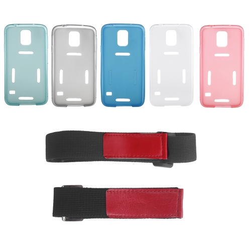 sports running gym armband waistband case cover protective shell for samsung galaxy s5 i9600 red