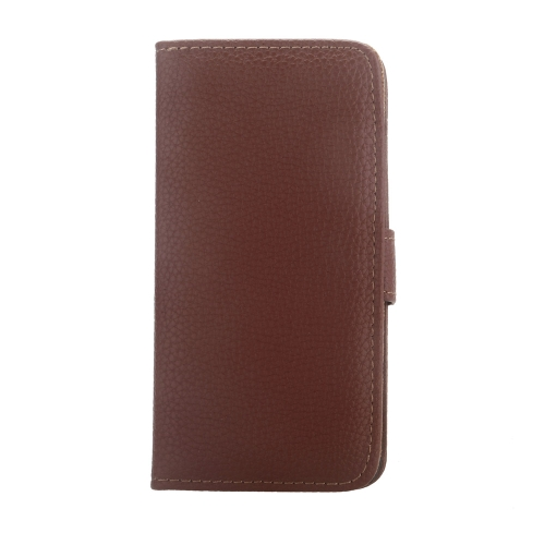 Luxury Flip PU Leather Wallet Case Cover with Card Holder Magnetic Clip Stand Folded Protective Shell for Apple iPhone 6 Brown