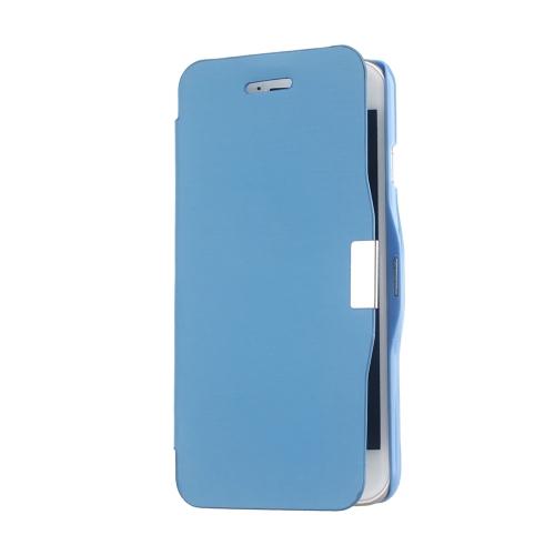 Magnético Flip PU couro pele Ultra Slim bolsa carteira caso capa protetora casca dura para Apple iPhone 6 azul