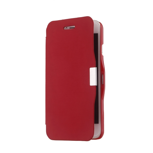 Magnetic Flip PU Leather Hard Skin Ultra Slim Pouch Wallet Case Cover Protective Shell for Apple iPhone 6 Red
