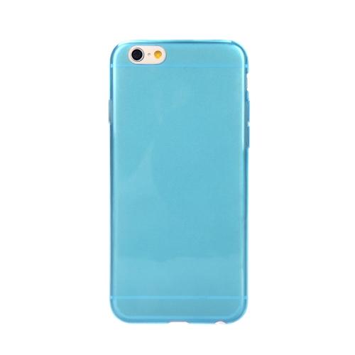 超薄い TPU 透明な携帯電話保護ケース背面カバーのアップルの iPhone 6 の青