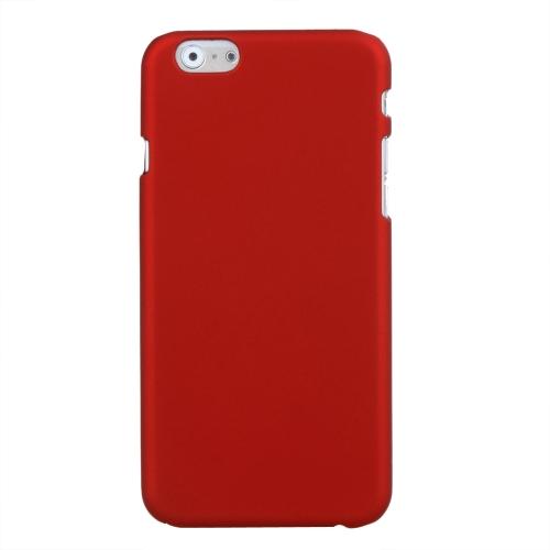 Estojo protetor PC cobre duro volta para Apple iPhone 6 vermelho