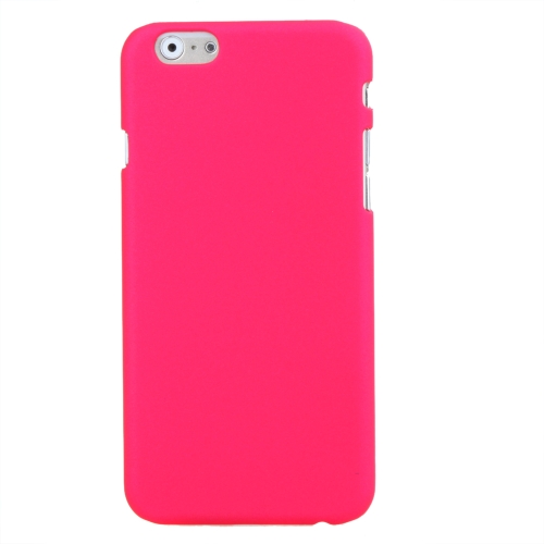 Estojo protetor PC cobre duro voltar para Apple iPhone 6 rosa vermelha
