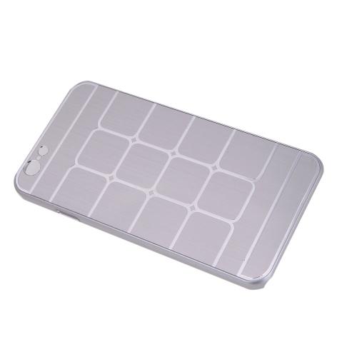 Решетчатые сетки защитные щеткой алюминия жесткий обратно Обложка чехол для Apple iPhone 6 серебро