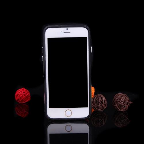 極薄軽量 TPU バンパー フレーム シェル ケース保護カバー 4.7「iPhone 6 ブラック