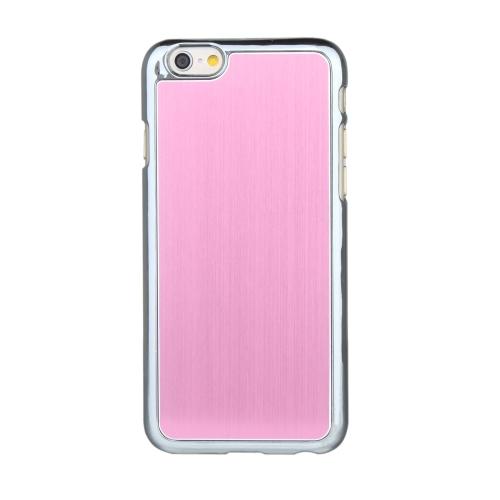Ultrafinos Lightweight difícil escovado alumínio moda pára-choques Shell caso protetor tampa traseira para iPhone 6 6S de 4,7