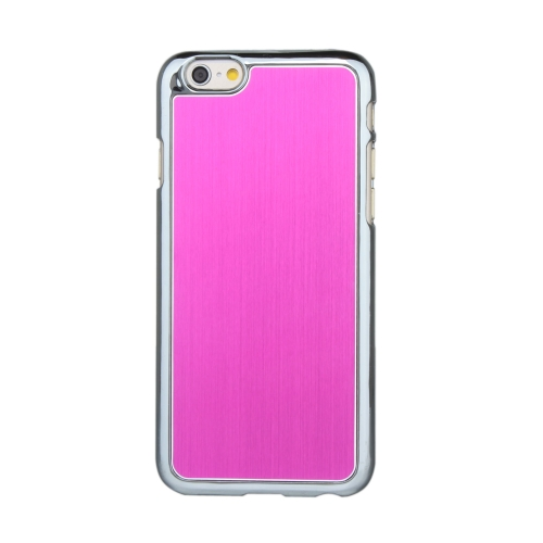 Ultrathin Lightweight Hard Brushed Aluminum Fashion Bumper Shell Case Protective Back Cover for 4.7