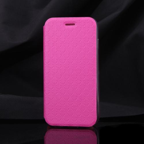 Luxe Slim Flip cuir Rhombus Grain cas doux clair TPU retour Cover coque de protection pour Apple iPhone 6 4,7