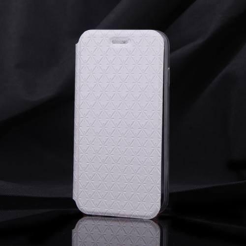 Luxo Slim Flip couro Rhombus grão caso macia clara TPU volta cobrir casca protetora para Apple iPhone 6 4,7