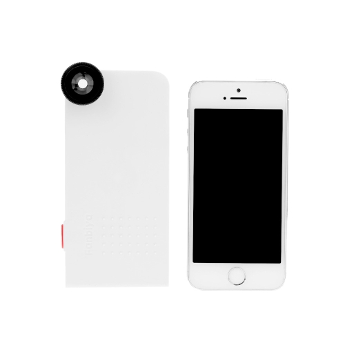 Phone Photo Lens 180° Fisheye 0.67X Wide Angle 10X Macro Set with Back Case for iPhone 5 5C 5S
