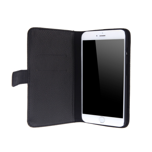 Fashion Card Holder Wallet Leather Case Flip Stand Cover for iPhone 6 Plus Black