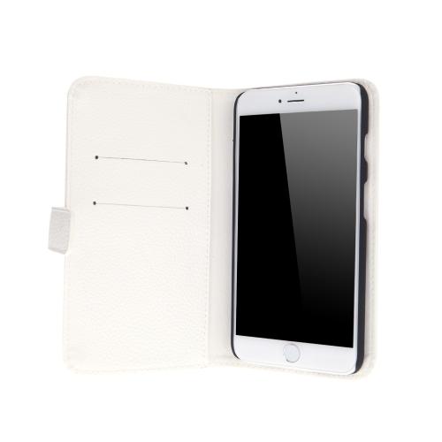 Moda cartão titular carteira caso Flip Stand tampa de couro para iPhone 6 Plus 6S Plus branco