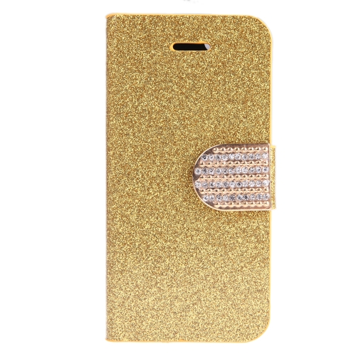 Fashion Wallet Case Flip Leather Stand Cover with Card Holder for iPhone 6 Plus Golden