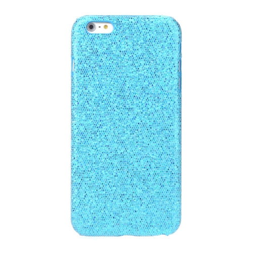 Ultrathin Lightweight Plastic Fashion Shell Case Protective Back Cover for iPhone 6 Plus Paillette Blue