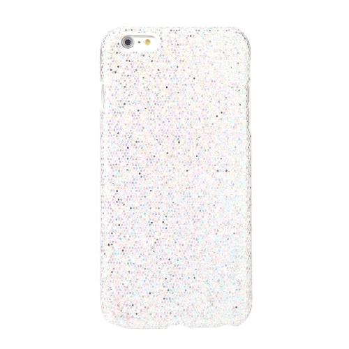 Ultrafinos Lightweight plástico moda Shell caso protetor tampa traseira para iPhone 6 Plus 6S Plus Paillette branco