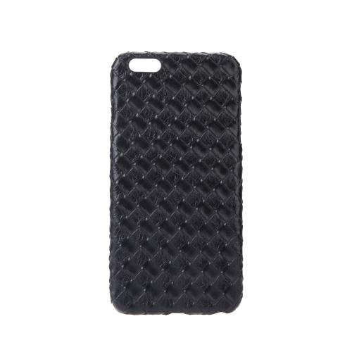 極薄軽量プラスチック ファッション シェル ケース保護バック カバー iPhone 6 プラス 6 s プラス キルト菱形黒