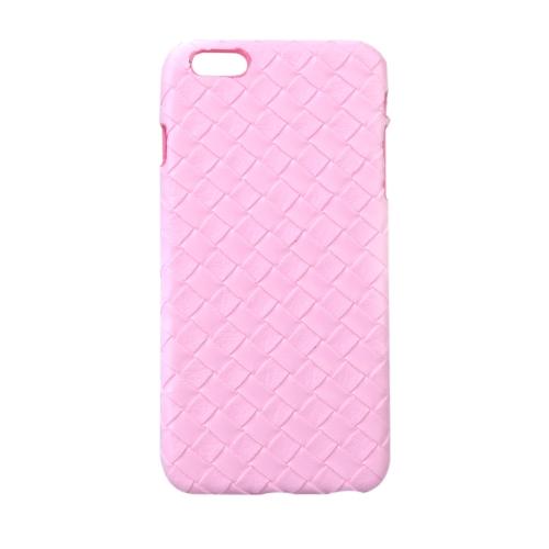 Ultrafinos Lightweight plástico moda Shell caso protetor tampa traseira para iPhone 6 Plus 6S Plus Quilt Rhombus rosa