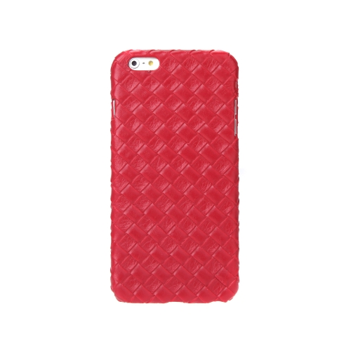 Ultrafinos Lightweight plástico moda Shell caso protetor tampa traseira para iPhone 6 Plus 6S Plus Quilt Rhombus vermelho
