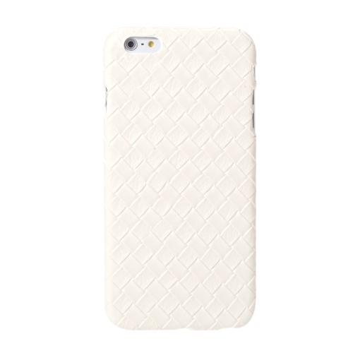 Ultrafinos Lightweight plástico moda Shell caso protetor tampa traseira para iPhone 6 Plus 6S Plus Quilt Rhombus branco