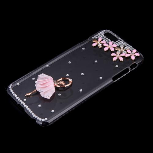 Ultrafinos Lightweight plástico moda Bling Shell caso protetor tampa traseira para iPhone 6 Plus 6S Plus